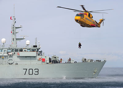 A Royal Canadian Air Force CH-149