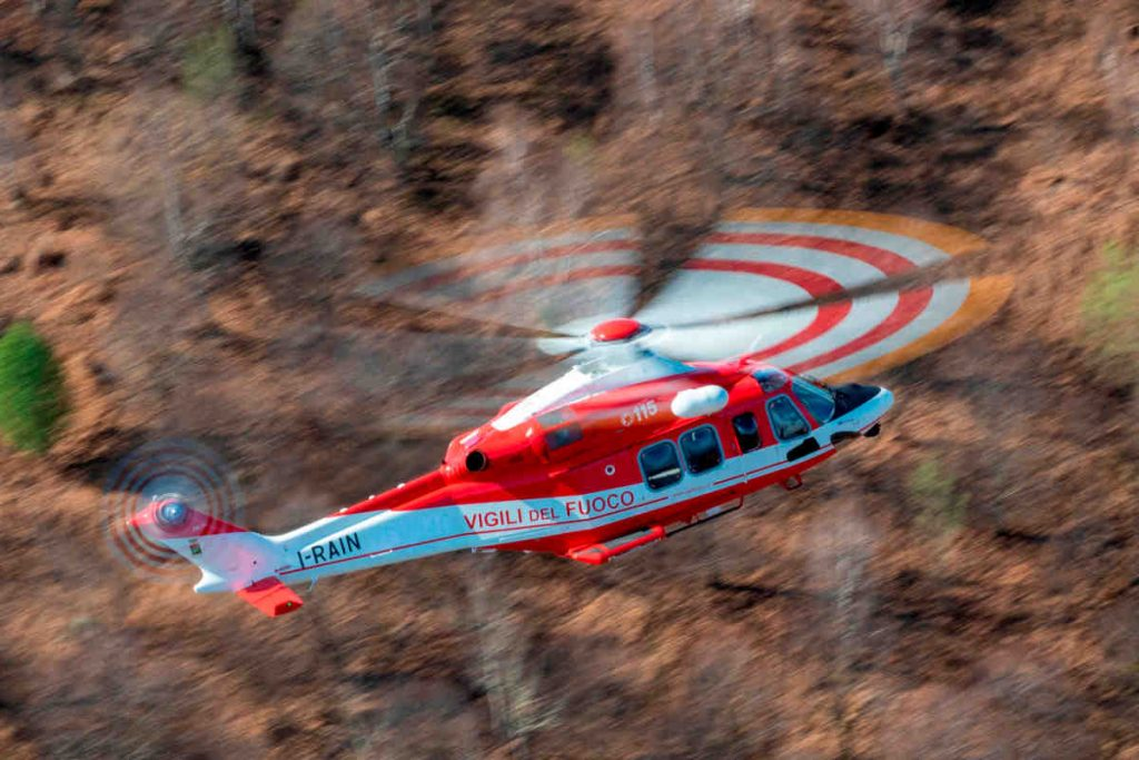 Italy's National Fire Corps receives first two AW139 helicopters