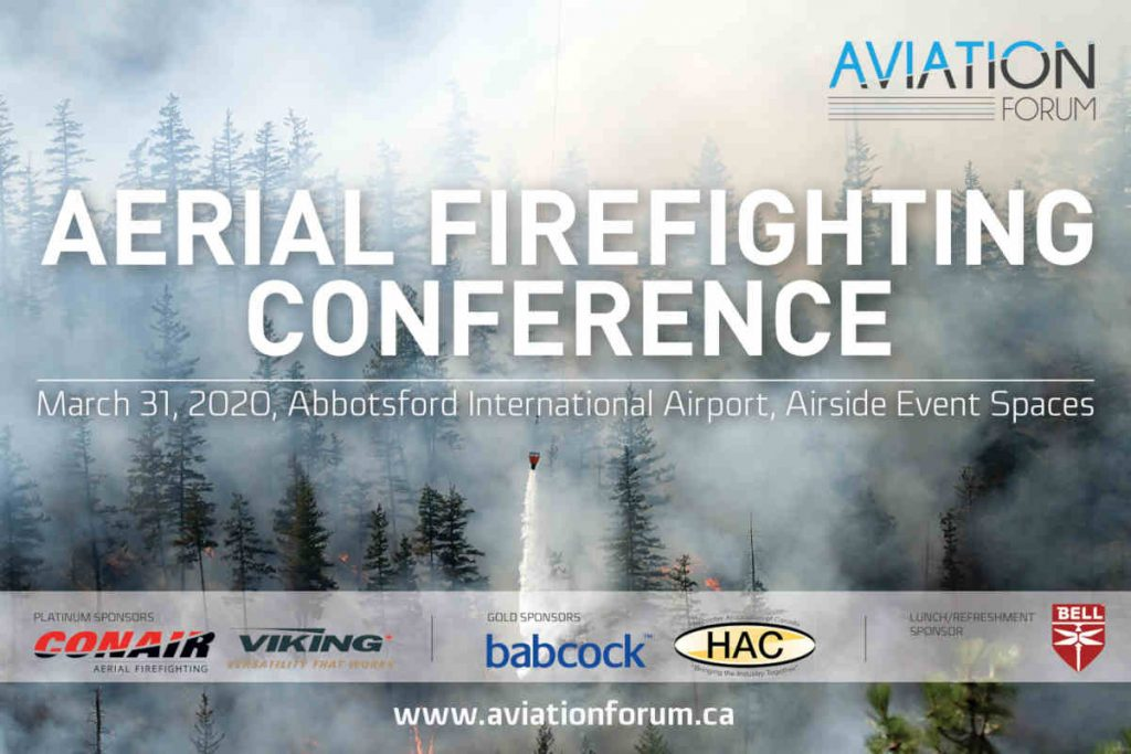 Aerial Firefighting Conference at YXX, March 31