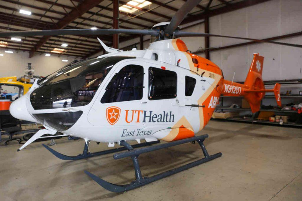 UT Health East Texas adds third rebranded EC135